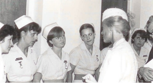 VIP - Princess Michael of Kent in conversation with nurses during a visit to Southend Hospital during the 1980s