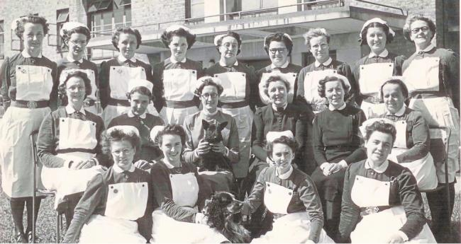Group picture - nurses from Southend Hospital gather for a photo in the 1950s