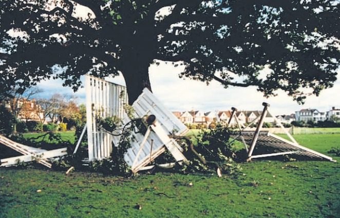 Gone - cricket screens were destroyed in Chalkwell