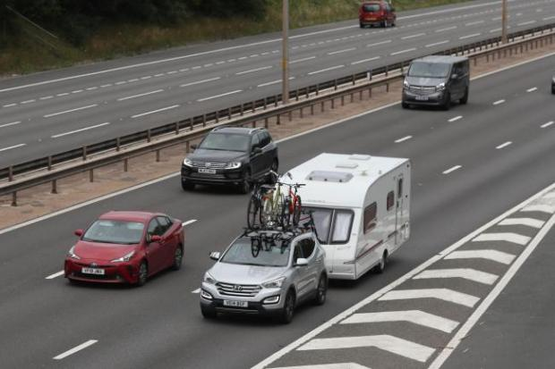 Echo: Traffic on the M5 motorway