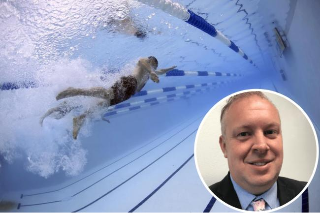 Two swimming pools in Southend will stay closed until May 17. Tony Cox (inset) said the move is