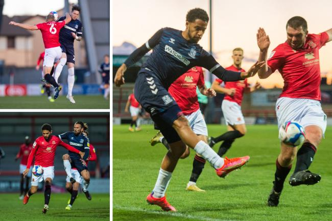 Doing battle - Southend United drew 1-1 with Morecambe on Tuesday night