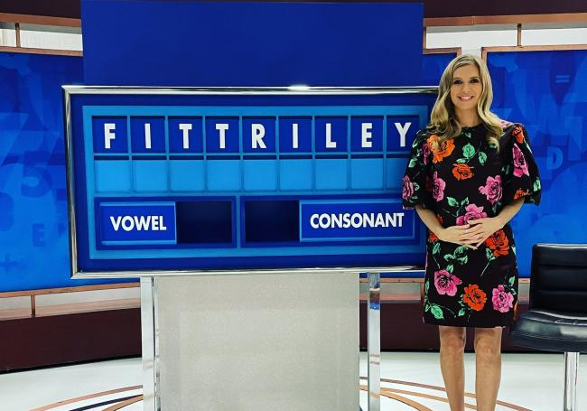 The 35-year-old Countdown star announced the news this morning. Picture: @RachelRileyRR/Twitter