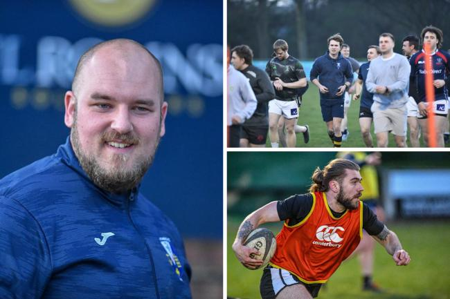Working hard - Southend Saxons' director of rugby Josh Ward (left) is pleased to be back in training Pictures: JON WAGSTAFF