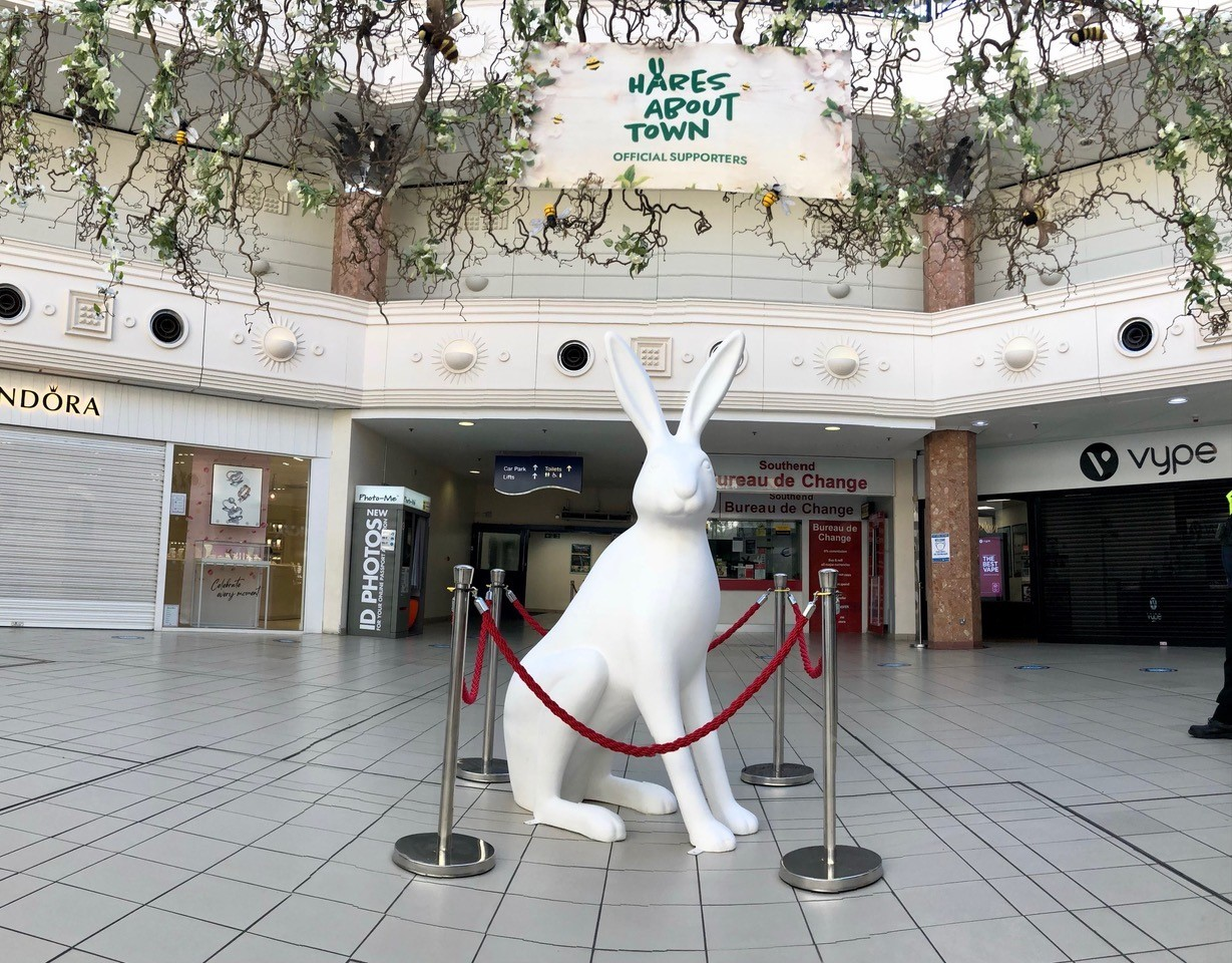 Harequarters - a hare at the Royals Shopping Centre