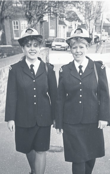 Westcliff wardens - Lee Eager and Jacqueline Smith in 1990