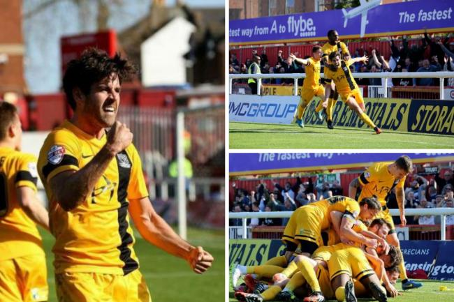 Flashback - Michael Timlin celebrates scoring for Blues against Exeter City back in 2015