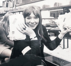 Postgirl Pat - Pat Hamblion prepares to deliver some letters in 1970