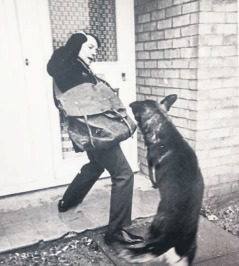 He must be barking - a postman is left startled by a dog