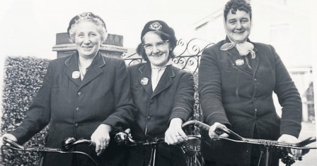 Smart ladies - Grace Bishop, Francis Lines and Lilly Simpson were the popular village postwomen of Great Wakering in 1970