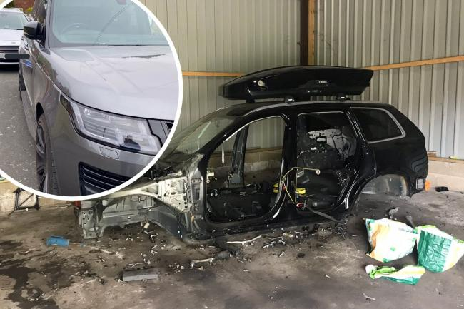 Police intercept stolen Range Rover which was due to be pulled apart in chopshop