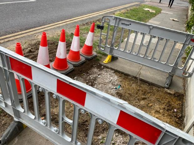 Echo: The pavement is now being tarmacked