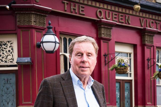 Harry Redknapp outside the Queen Vic