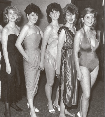 Dressed to impress - ladies at a fashion show held for UNICEF on Canvey in 1985