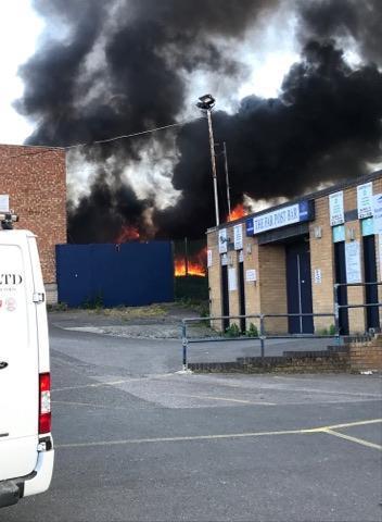 Echo: The fire in Victoria Avenue, Southend in 2019