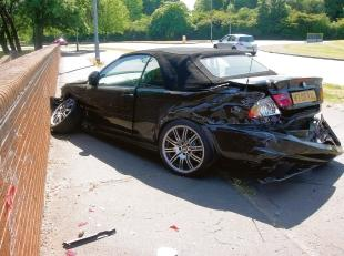 Expensive wreck – the £57,000 BMW convertible