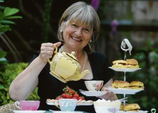 Not the retiring type - Jean Swain who has just launched All the Tea & China