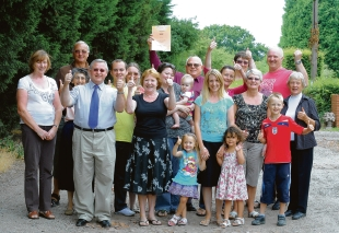 Campaigners in Thorpe Road, Hawkwell, show their delight at the demise of the 330-homes scheme
