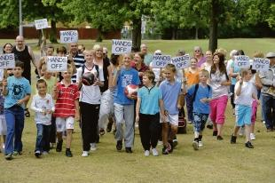 Children lead the protest to save Pound Lane Recreation Ground