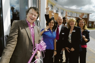 Cutting the ribbon – Will Birch, Dr Viviana Porcari, Dr Patrick Geoghegan, Jodie Ramcharitar, Lorraine Cabel and Jo Paul