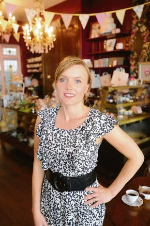 Juliet Sear in the showroom of her upmarket Leigh cake shop