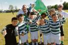 Super hoops - Catholic United Lions with the under 10 Lions Cup