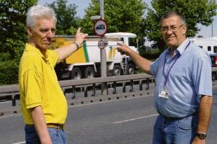 Resident Alan Grubb and ward councillor Martin Terry