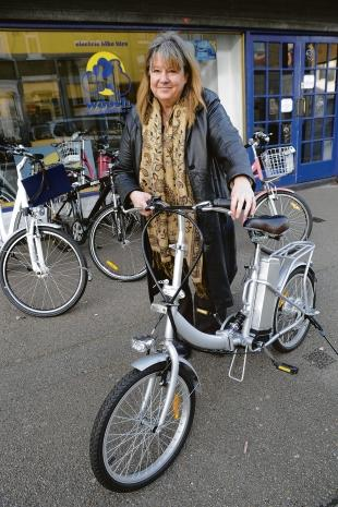 Powered up – Hatti Lee with an electric bike