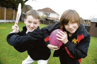 Sporting success — Charlie Lockhart (left) and Jake Harman have won scholarships