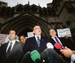 Spotlight – Tony Ball talks to the media outside the Royal Courts of Justice after a failed appeal by Dale Farm travellers
