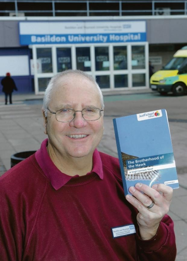 Write on – retired engineer Ray with a copy of his book