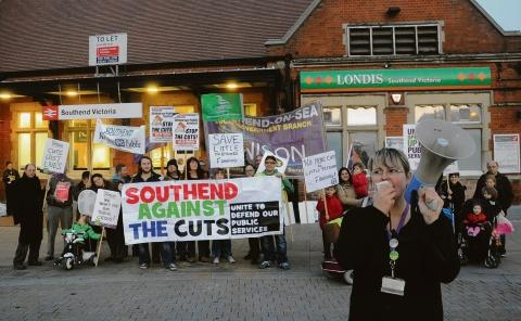 Anti-cuts protest at Southend Council