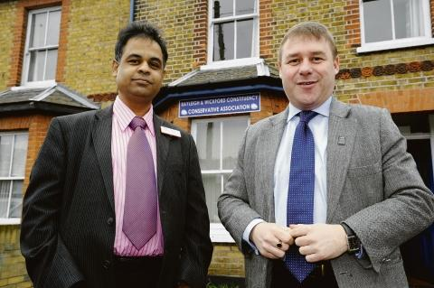 Mission accomplished – Tariq Musaji with MP Mark Francois