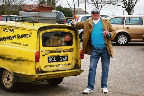 Lovely jubbly – Terry Morrell as Del Boy ahead of his drive-in at Ballards Gore