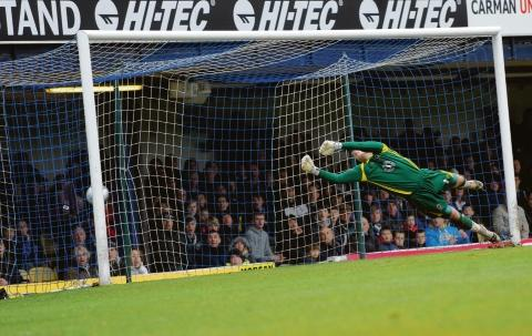 Anthony Grant's late goal hits the back of the net