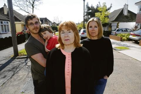 Payout mooted – James Preston with son Finlee, Caroline Parker and Cheryl Hedges