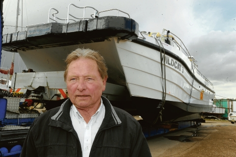 Proud – Ray Chuter designed the catamaran