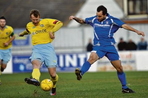 Steve Ward back in his Canvey playing days