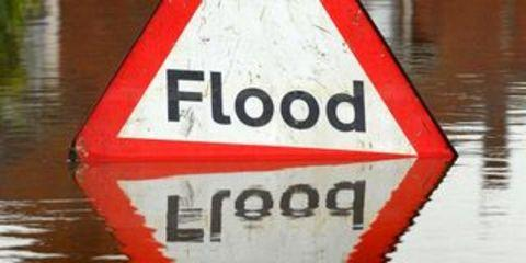 Town centre road closes after severe storms