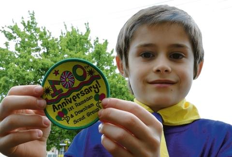Charles Collis with his winning badge design