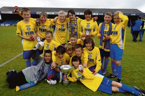 Echo: Yellow magic - Concord Rangers with the under 12 cup