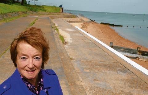 Hut concerns – councillor Anne Chalk