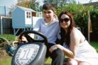 Happy now – William and mum Debbie with the go-kart