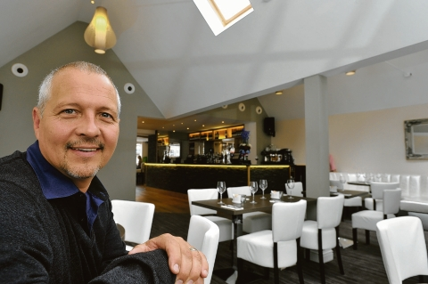 Mark Stevens – pleased with the look of his new bar