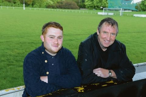 Revival – Basildon United manager Bobby Barnes and chairman Dave Cusack.