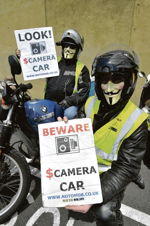 Watching the CCTV car – Graeme Jones and Si Clark