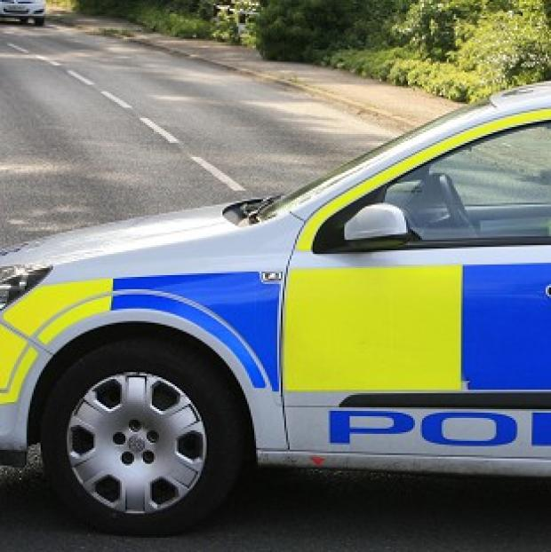 A motorist was arrested after a rolling road block was put in place on the M25