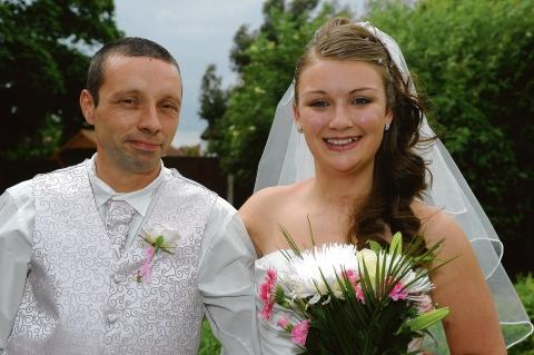 Happily married – Kirsty Newman with her husband Tony Butler