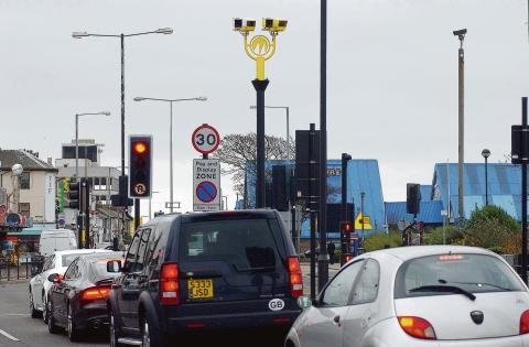 Watching – the average speed camera sysstem in Marine Parade, Southend