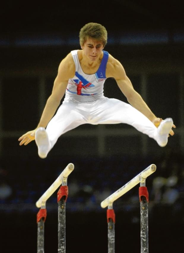 Max Whitlock in action on day one of the London Olympics.